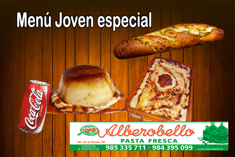 Alberobello - Menú joven especial - Pizzería Alberobello