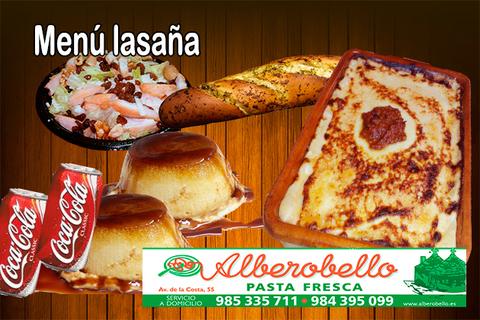 Alberobello - Menú lasaña - Pizzería Alberobello