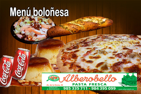 Alberobello - Menú boloñesa - Pizzería Alberobello