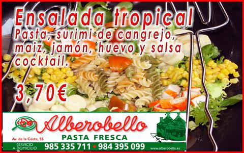 Alberobello - Ensalada tropical - Pizzería Alberobello