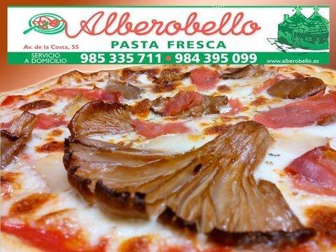 Alberobello - Nueva pizza funghi - Pizzería Alberobello